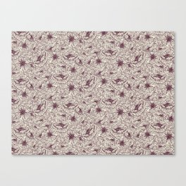 Tossed Red Floral Canvas Print