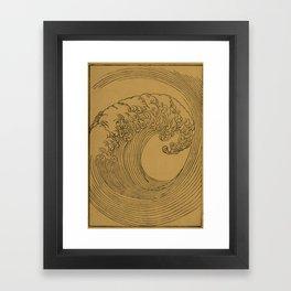 Golden Wave Framed Art Print