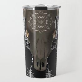 Buffalo skull dream catcher Travel Mug