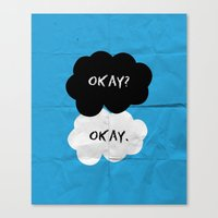okay Canvas Prints featuring Okay by D-fens