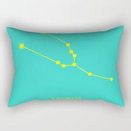 TAURUS (YELLOW-TURQUOISE STAR SIGN) Rectangular Pillow