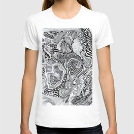 Topographic abstract T-shirt