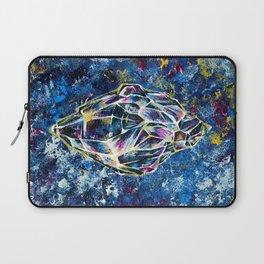 Blue crystal, acrylic painting Laptop Sleeve