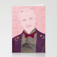 the grand budapest hotel Stationery Cards featuring The Grand Budapest Hotel II by Itxaso Beistegui Illustrations