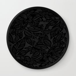 Let Love Grow - black/charcoal Wall Clock