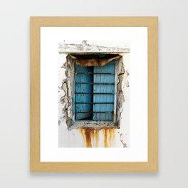 rusty view Framed Art Print