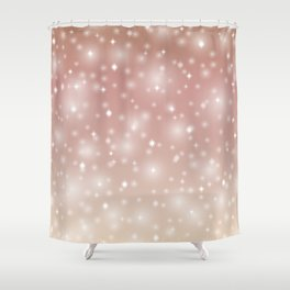Soft copper bronze abstract with stars Shower Curtain