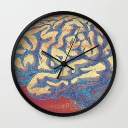Blue Thoughts Wall Clock