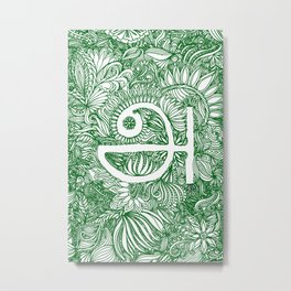 A - Tamil - Green Metal Print