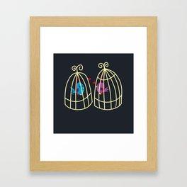 Birdcage Love Framed Art Print