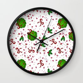 Chistmas kissing decor Wall Clock
