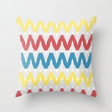 Summer Pattern 12 (Beach Ball) Throw Pillow