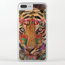 Seeing Eye Tiger Clear iPhone Case
