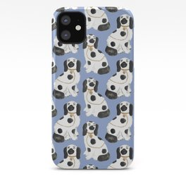 Staffordshire Dog Figurines No. 2 in Dusty French Blue iPhone Case
