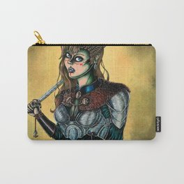 Portrait of Shieldmaiden Carry-All Pouch