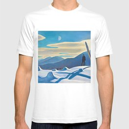 The Trapper, Winter Mountain landscape painting by Rockwell Kent T-shirt