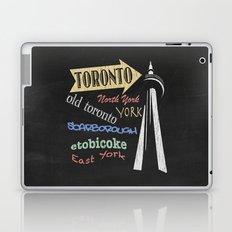 Toronto Tourism Poster Laptop & iPad Skin