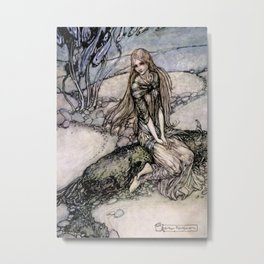 "Arthur Rackham Fairy Art from ""Undine"" Metal Print"