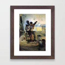 African American Masterpiece 'The Banjo Lesson' by Henry Ossawa Tanner Framed Art Print