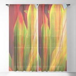 Ti Leaf Series #1 Sheer Curtain