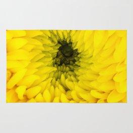 Fluffy Yellow Chrysanthemum Close-up  Rug