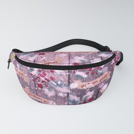 Christmas Wood Pattern PPP616 Fanny Pack