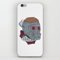 starlord iPhone & iPod Skins featuring Outlaw by Charleighkat