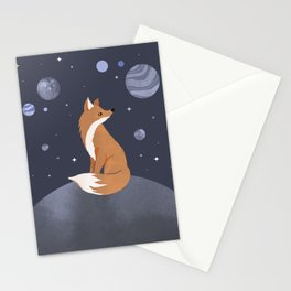 The lonely Fox Stationery Cards