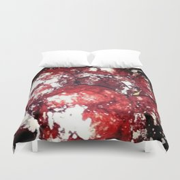 Powdered Red Velvet Duvet Cover
