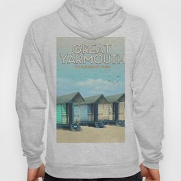 Great Yarmouth Beach travel poster Hoody