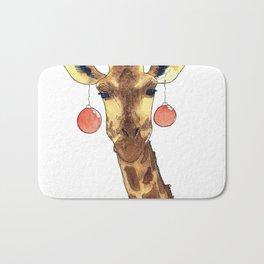 Girafe de Noël Bath Mat