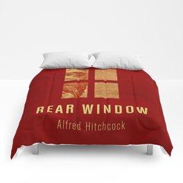 REAR WINDOW - Hitchcok Poster Comforters