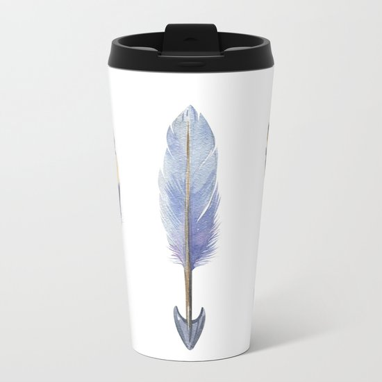 Watercolor bohemian arrows Metal Travel Mug
