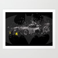 1989 Art Prints featuring Batmobile - 1989 by Nerdiful Art