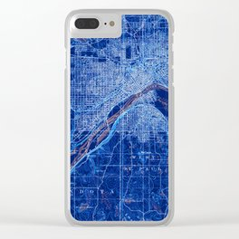 02-St Paul Minnesota 1896, old vintage map, vintage art print Clear iPhone Case