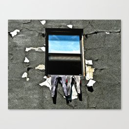 Wetsuits In Window Canvas Print