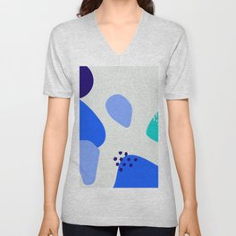 Blue abstract pattern Unisex V-Neck