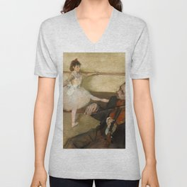 """Edgar Degas """"The Dance Lesson"""" Unisex V-Neck"""
