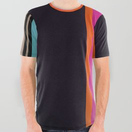 Sunset Stripes All Over Graphic Tee