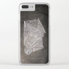 Black and White  Lines Clear iPhone Case