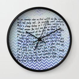 from jemma to fitz Wall Clock
