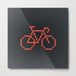 Pixelbike Metal Print