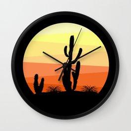 Mexican desert Wall Clock