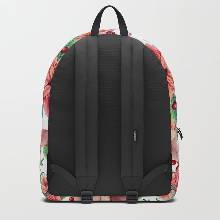 Red Poinsettia Backpack