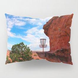 Disc Golf Basket in Moab Utah Pillow Sham