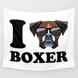 I Love Boxer modern v1 Wall Tapestry