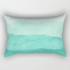 Ombre Waves in Teal Rectangular Pillow