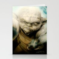 yoda Stationery Cards featuring Yoda by Colunga-Art