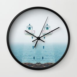 Lighthouse Twins Wall Clock