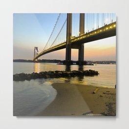 Sunset at the Verrazzano-Narrows Bridge Metal Print